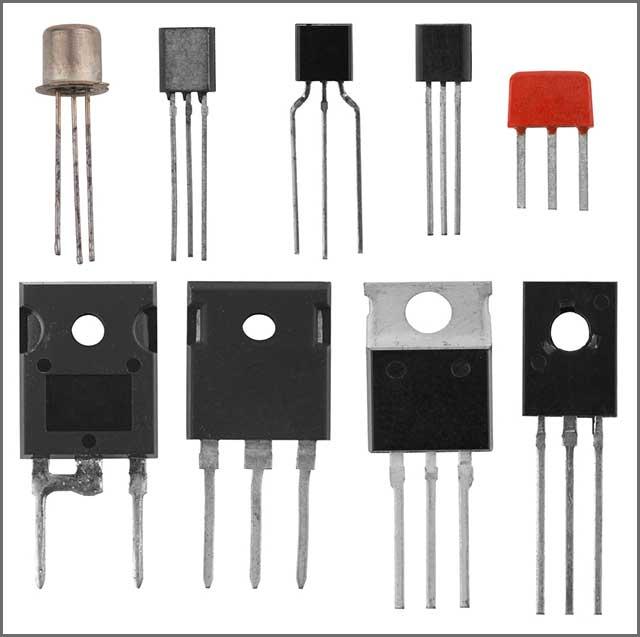 Transistors dans différents boîtiers